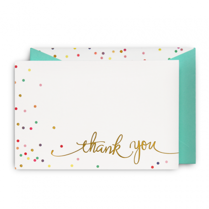 thank you card hundreds and thousands the vintry